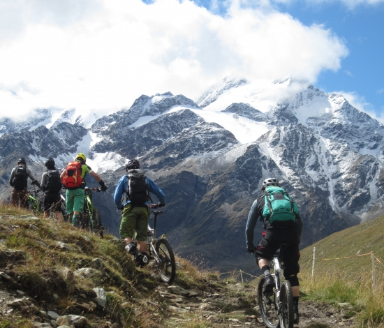 Mountain Bike in Alta Rezia